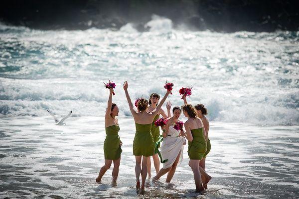 Stunning coastal Ireland backdrop for outdoor destination wedding