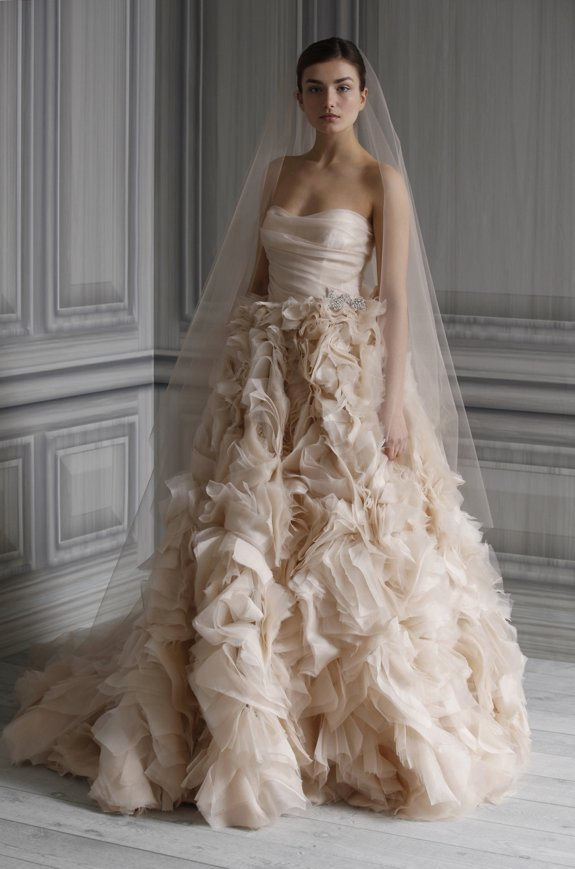 Monique Lhuillier Wedding Dresses Pure Romance Spring 2012 OneWed