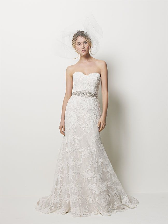 ROmantic lace a-line wedding dress with beaded bridal belt