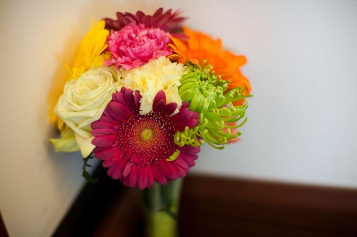 Multicolor bridal bouquet