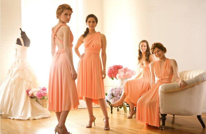 convertible-bridesmaid-dresses-wrap-gowns-budget-wedding-ideas