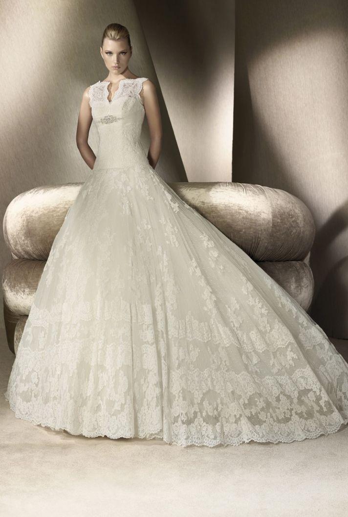 Lace ballgown San Patrick wedding dress, 2012