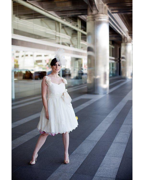 Vintage-inspired little white dress
