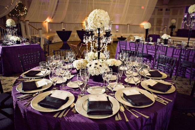 decoration white wedding wedding ideas purple wedding reception - Wedding Reception Decor