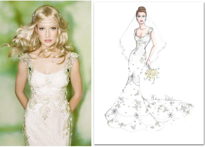 Claire Pettibone's interpretation of Kim Kardashian's wedding dress