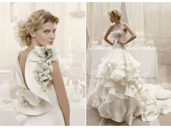 Romantic and dramatic 2012 wedding dresses