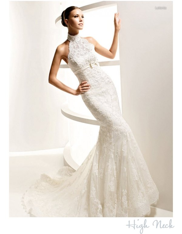 Wedding dress necklines find your most flattering onewed for Wedding dress high neck