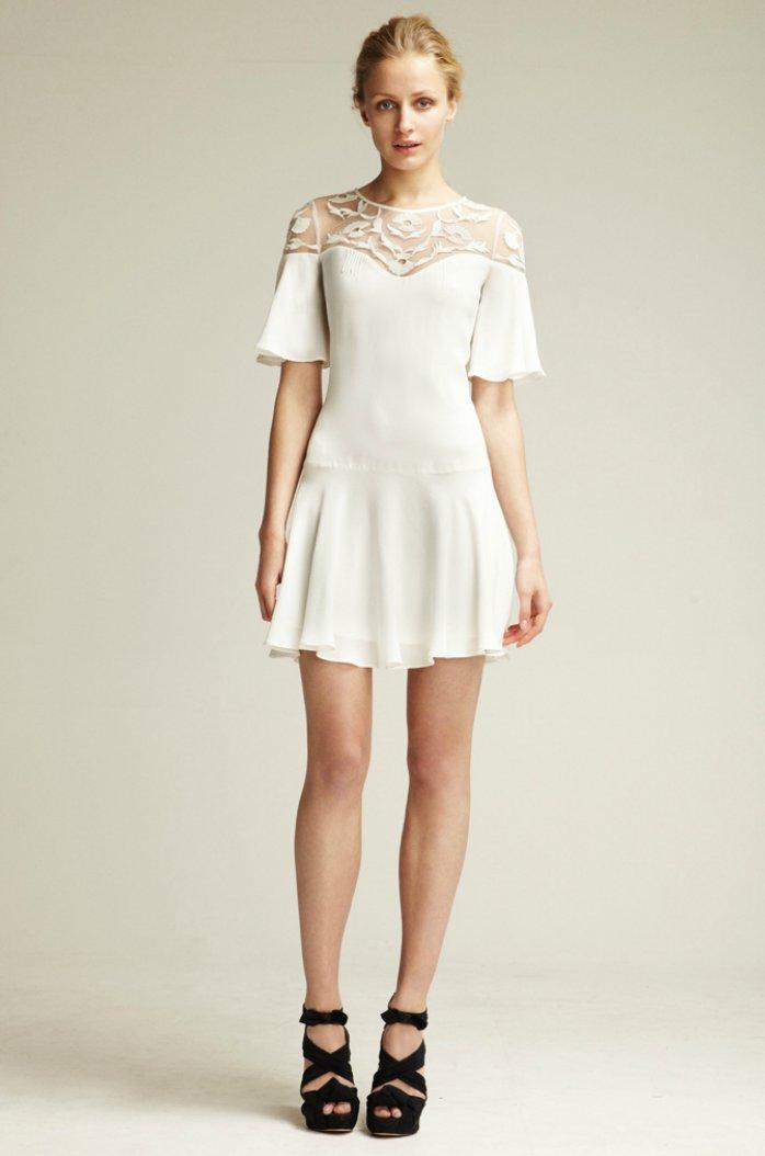 2012 wedding reception dress by Temperley London
