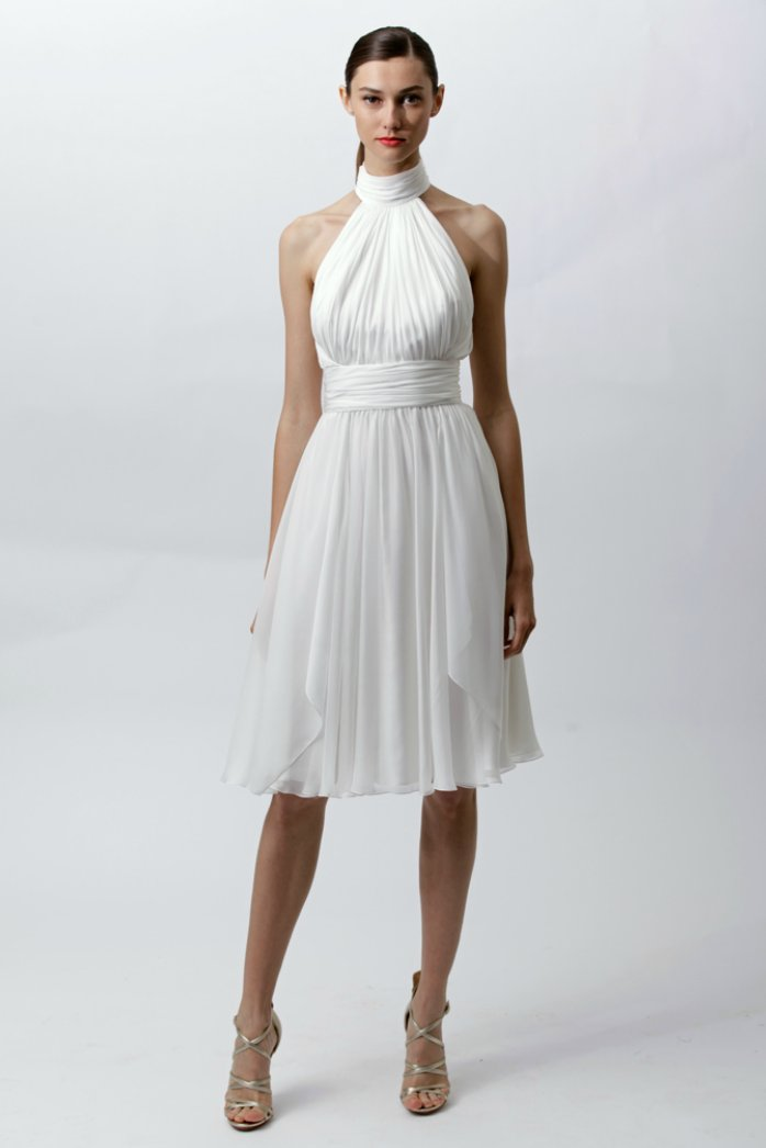 White hot wedding dresses from resort 2012 onewed for White dresses for wedding