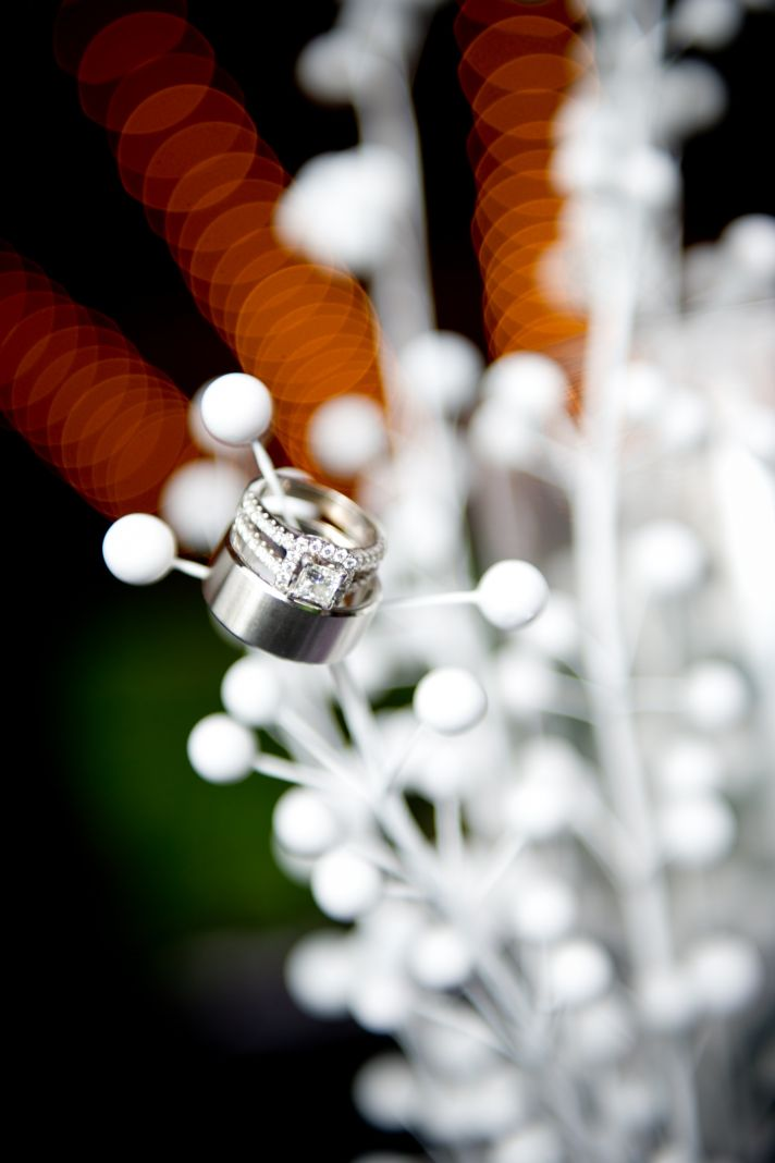 Artistic engagement ring photograph