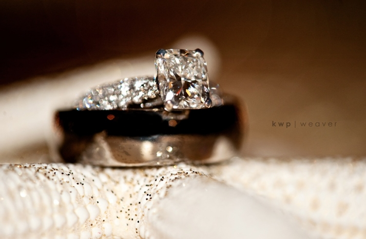 Diamond-engagement-ring-grooms-wedding-band