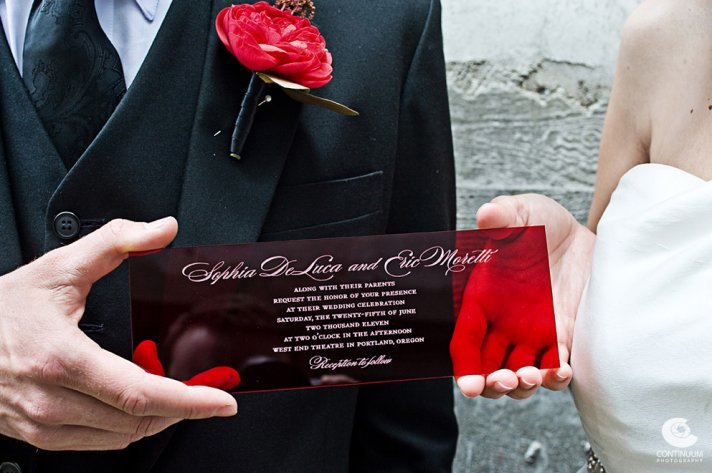 Crimson red real wedding