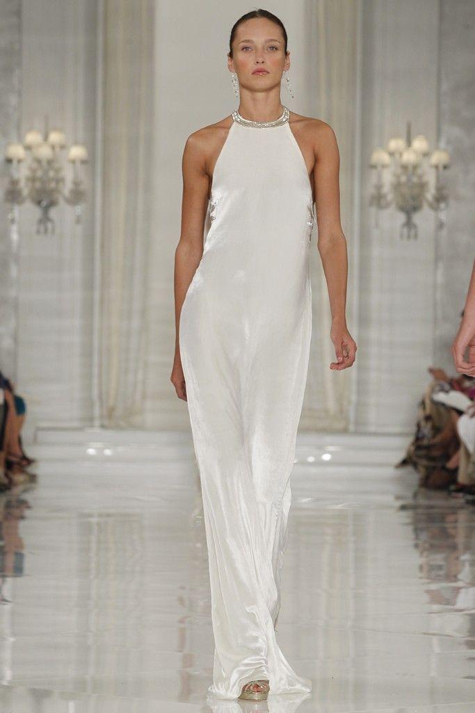 Sleek White Silk Halter