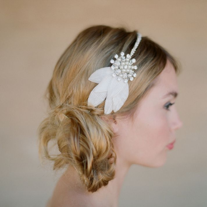 Delicate bridal headband Wedding hair accessories from the Ruffled shop