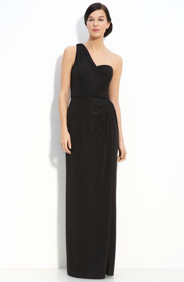 Long one-shoulder bridesmaid dress