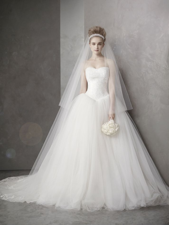 Ball Gown Wedding Dresses By Vera Wang : Sneak peek at spring white by vera wang wedding
