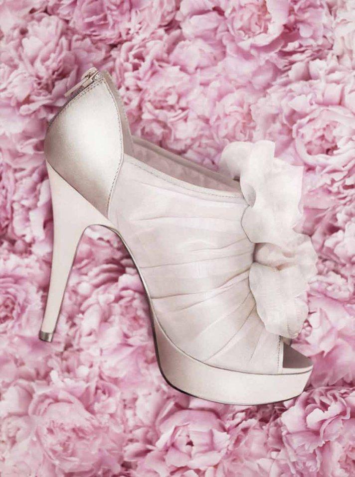 Ivory platform wedding shoes