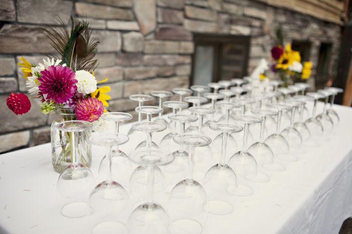 Sunflower wedding centerpiece, mason jar centerpieces
