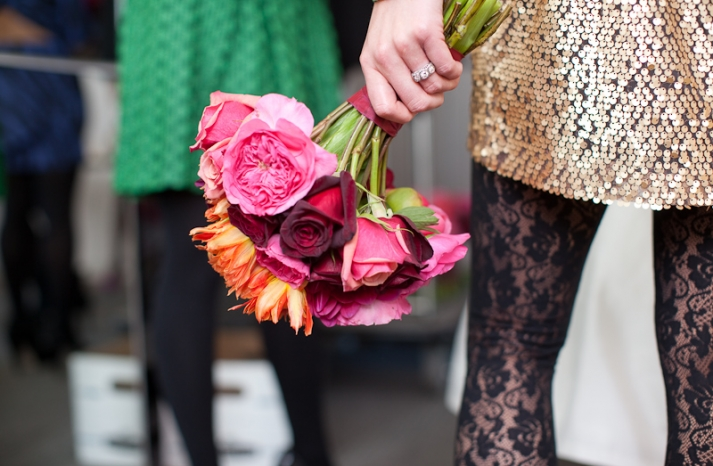 Halloween-wedding-bridesmaid-bouquet