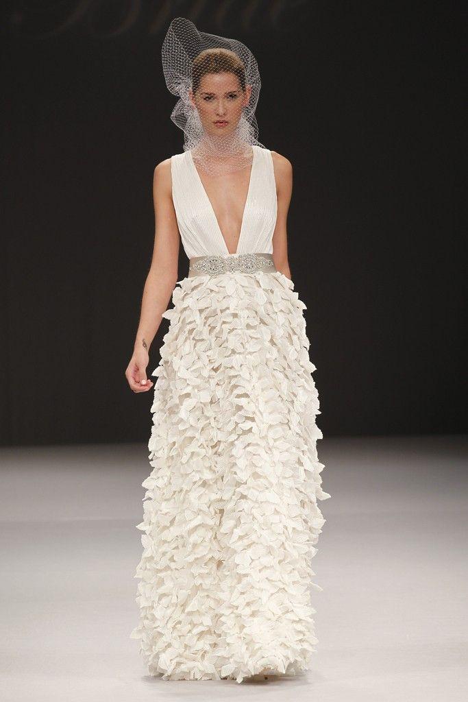 Badgley Mischka wedding dresses, Spring 2012 bridal gown- plunging v neckline