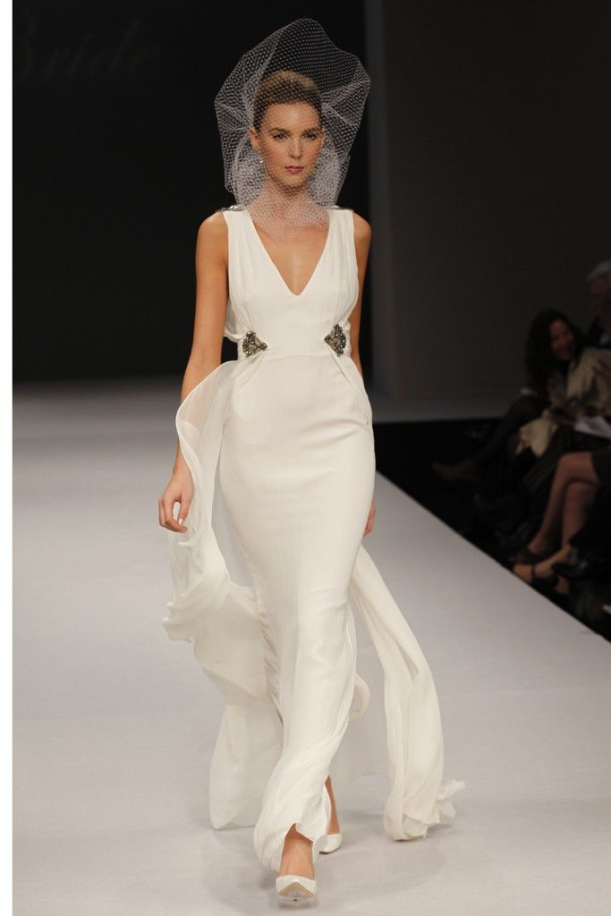 Badgley Mischka wedding dresses, Spring 2012 bridal gown- plunging v neckline