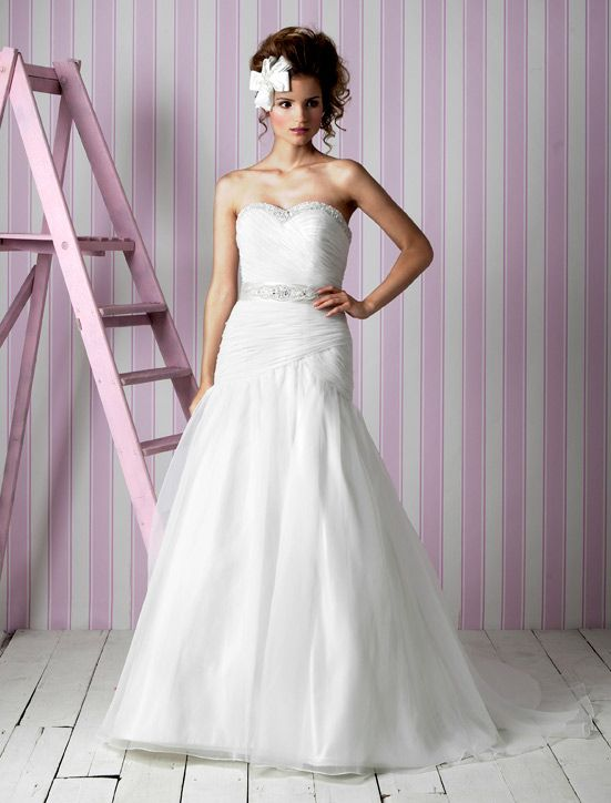 Charlotte Balbier wedding dresses, 2012 bridal gown- classic a-line