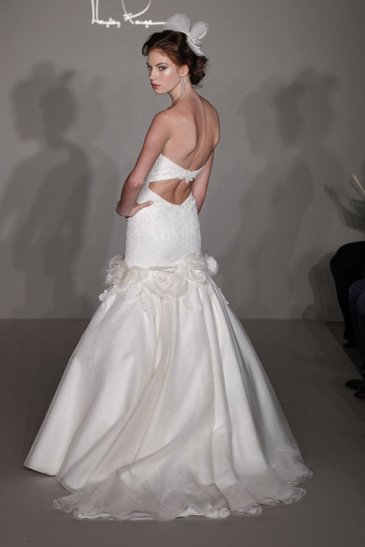 Hayley Paige 2012 wedding dress with romantic open back