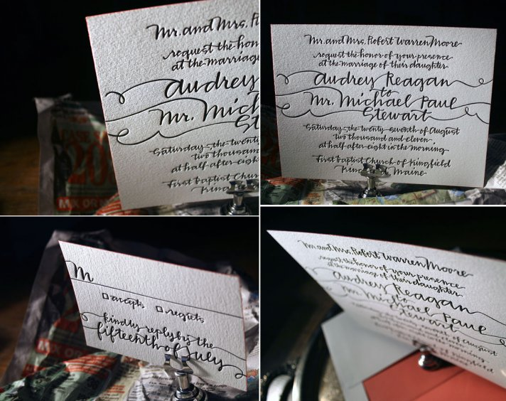 letterpress wedding invitations wedding splurge