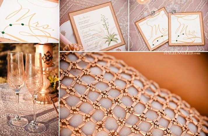 gold wedding inspiration elegant romantic wedding reception table