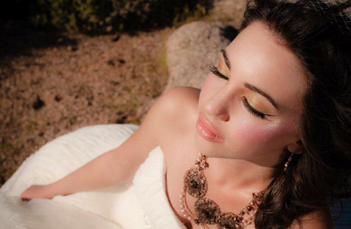 desert glam bridal style wedding makeup perfection