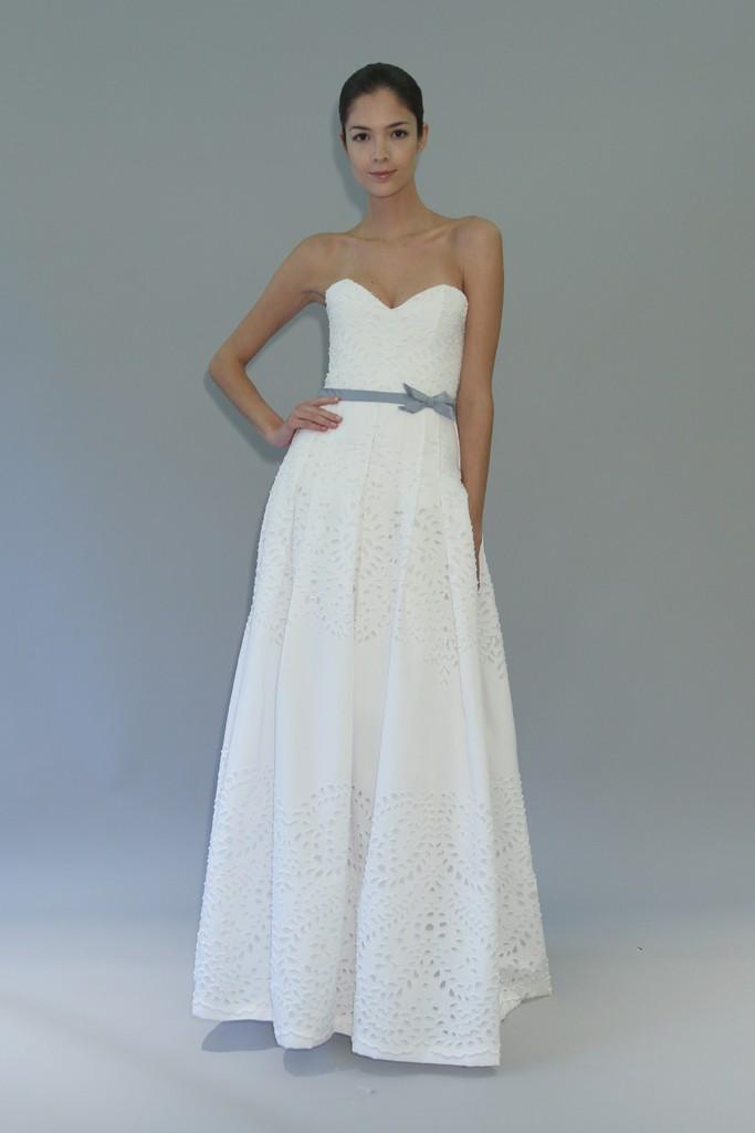 carolina herrera wedding dress fall 2012 bridal gowns 2 Credit WWD