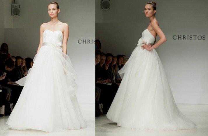 christos romantic ballgown wedding dress floral applique