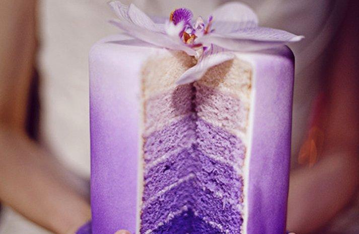purple wedding cakes ombre 2012