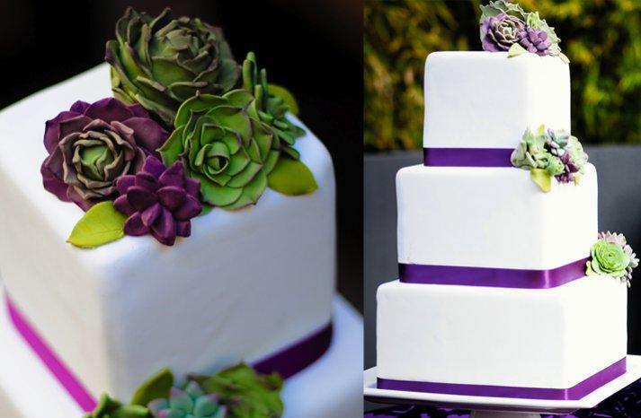 erica obrien succulent wedding cake