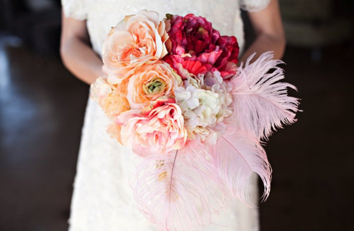 vintage glam wedding style bridal bouquet