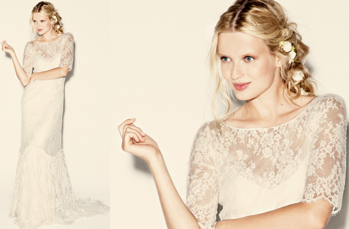 delphine manifet 2012 wedding dresses boho bridal gown 11 lace Credit none