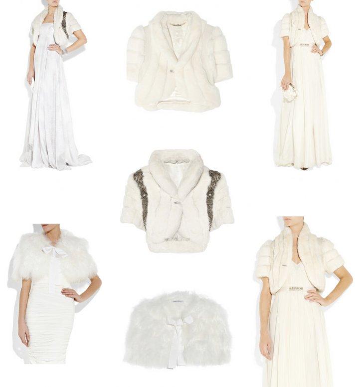 winter wedding style wedding dress fur bridal bolero