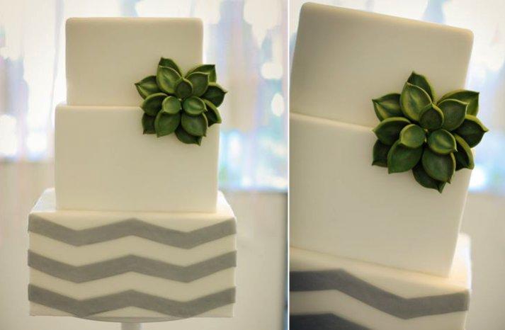 fondant succulent wedding cake