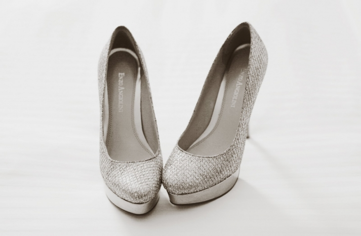 silver platform wedding shoes