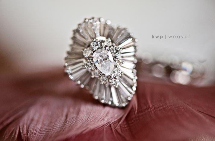 vintage wedding style wedding photography engagement ring