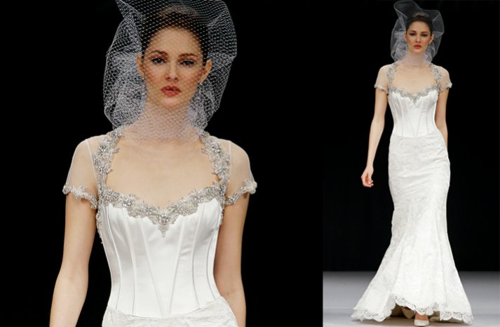 Badgley-mischka-2012-wedding-dress-sheer-cap-sleeves-mermaid