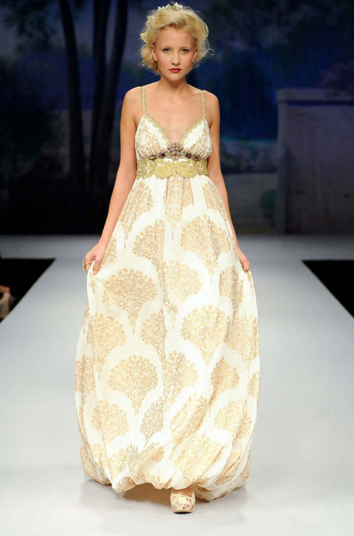 printed wedding dresses 2012 bridal gown trend claire pettibone