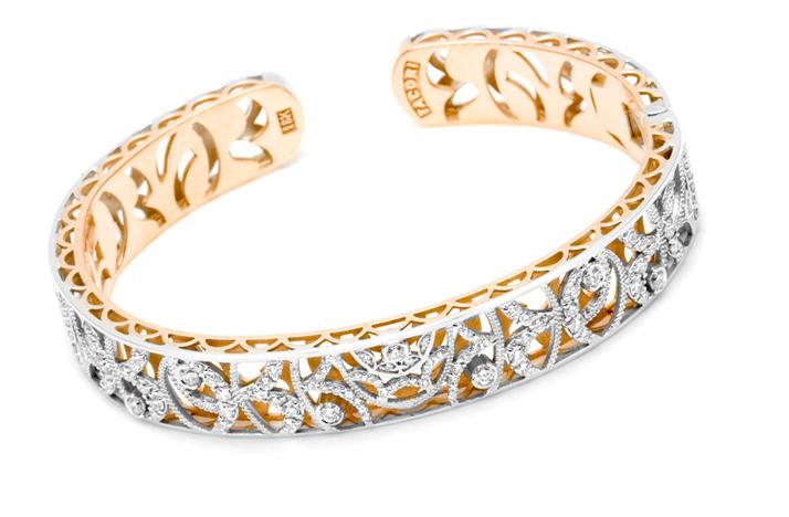 rose gold diamond wedding jewelry bracelet tacori Credit none
