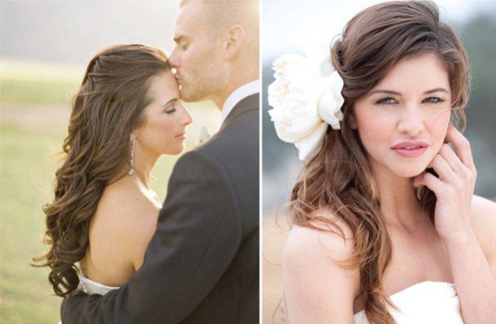 all down wedding hair