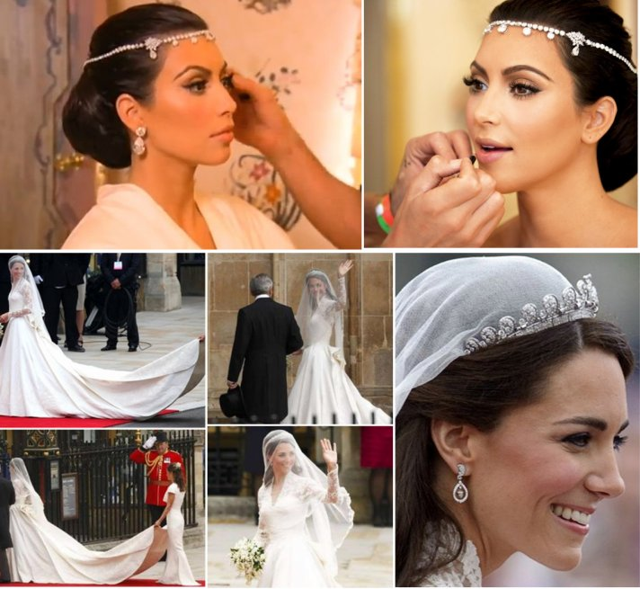 kate middleton kim kardashian weddings 2011