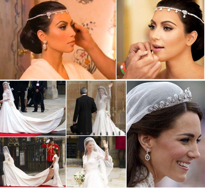 kate middleton kim kardashian weddings 2011