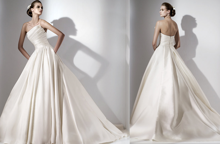 euterpe wedding dress one shoulder bridal gown elie saab