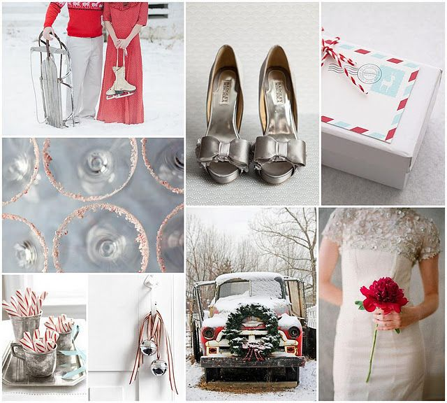 winter wedding candy canes