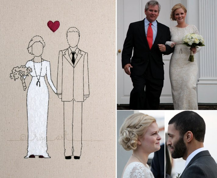 bride groom wedding portrait keepsakes
