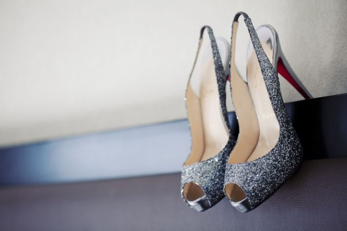 silver louboutin wedding heels